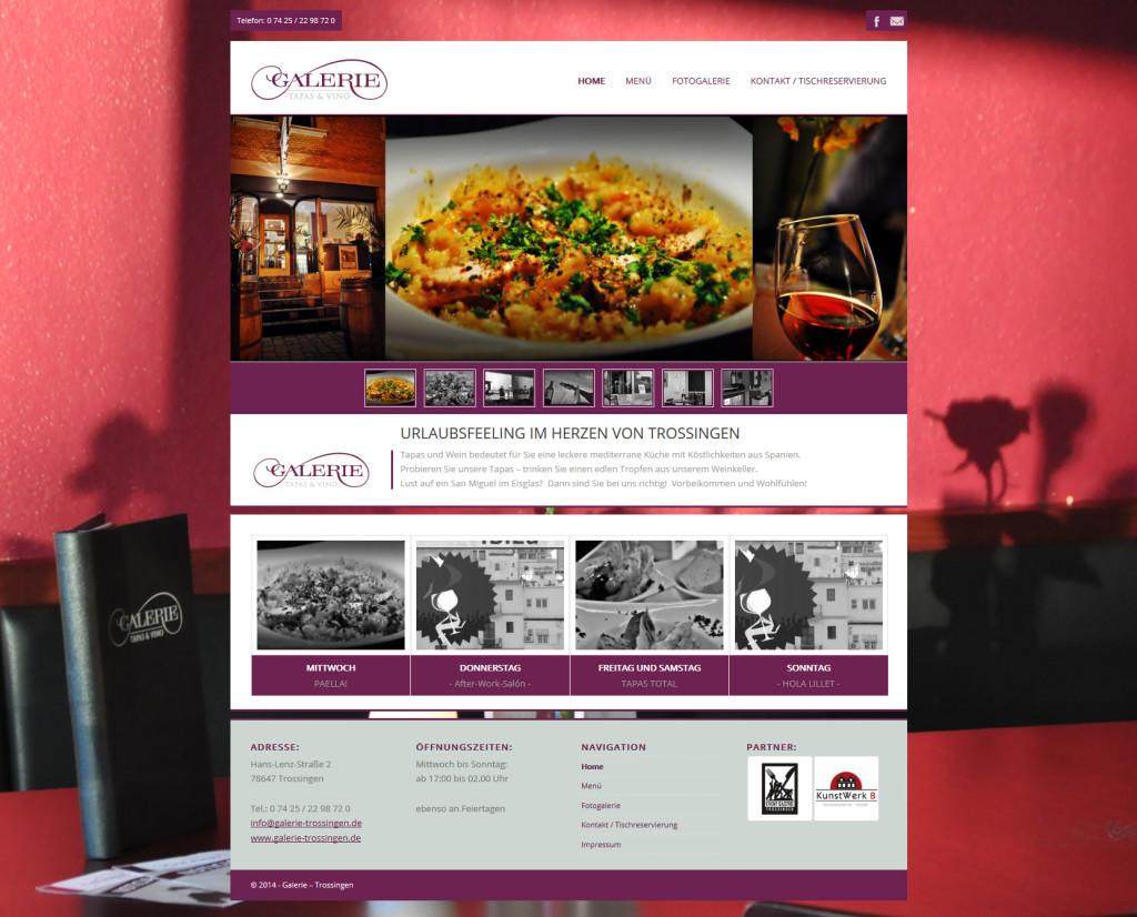 austarts - Mediendesign | Webseite für Galerie Trossingen - Tapas & Vino