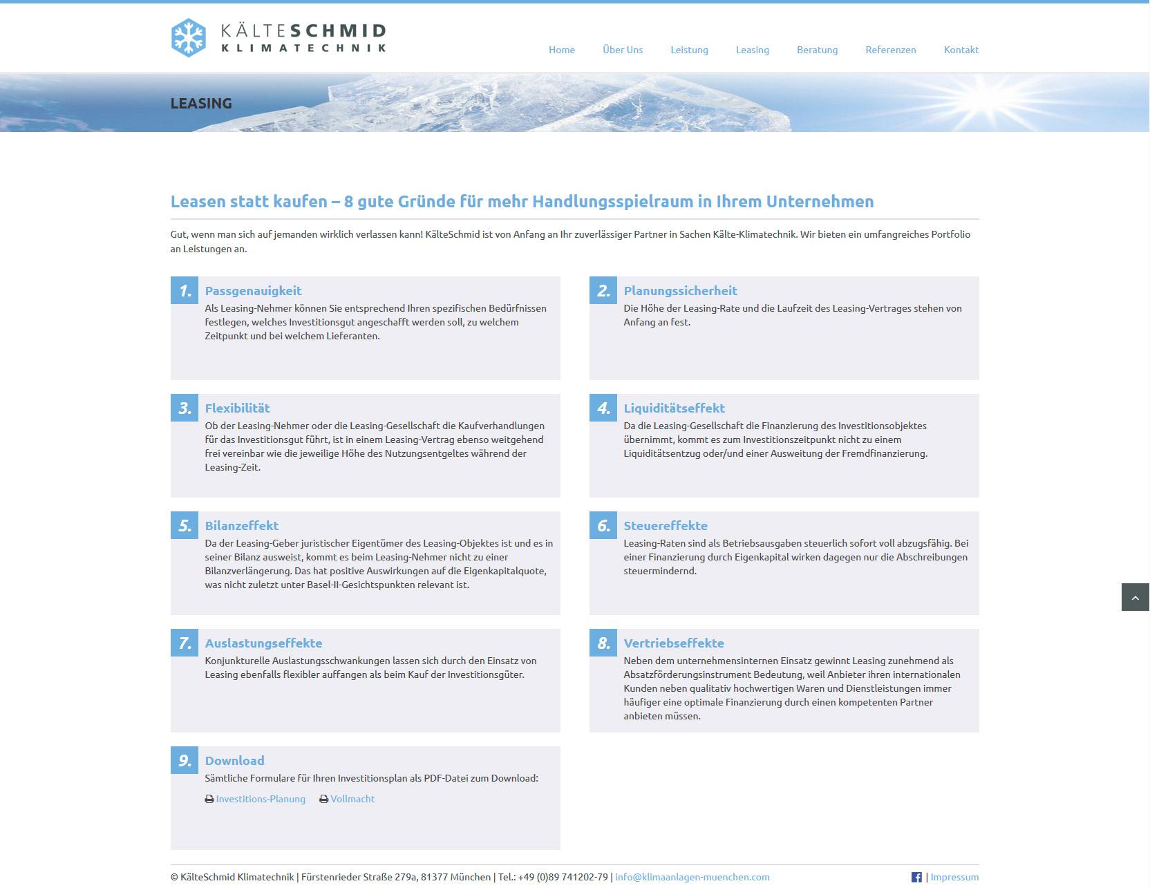KaelteSchmid-Klimatechnik-Klimaanlagen-Muenchen-Webdesign-Leasing ...