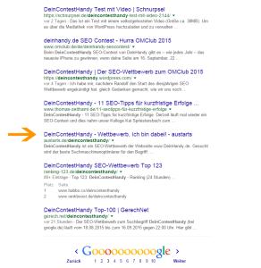 DeinContestHandy - Wettbewerb - Google - Ranking - 01.09.2015